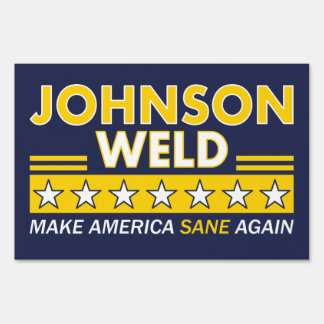 Gary Johnson / Weld Libertarian Election Yard Sign