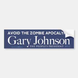 Gary Johnson Zombie Apocalypse Bumper Sticker