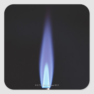 Gas Burner Square Sticker