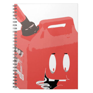 Gas-can Spiral Note Books