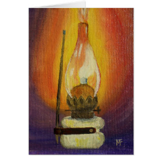 Gas Lamp Greeting Card