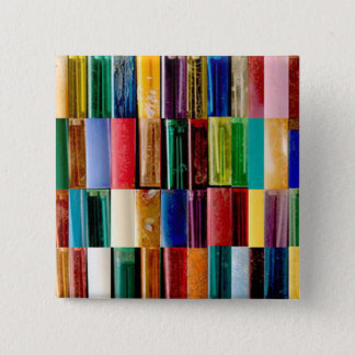 Gas Lighter Shells Creative Abstract Art Collage 2 Inch Square Button