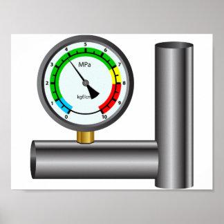 Gas Manometer Poster