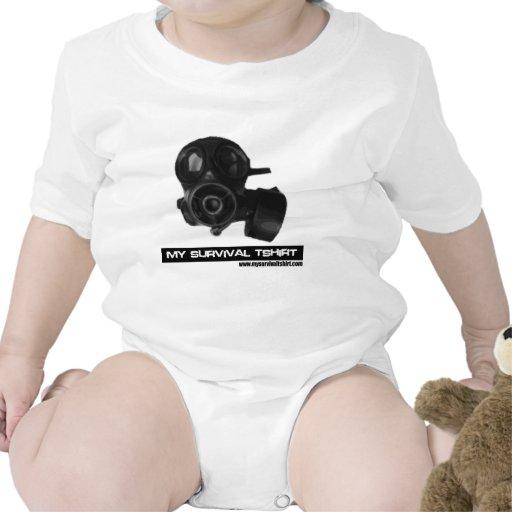 Gas Mask 05 Baby Bodysuits