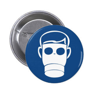 Gas mask 2 inch round button