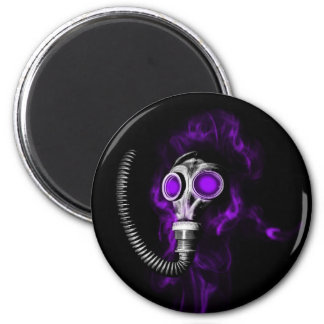 Gas mask 2 inch round magnet