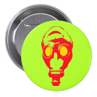 "Gas Mask 3"" Button"