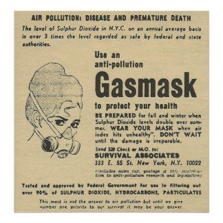 gas mask ad poster