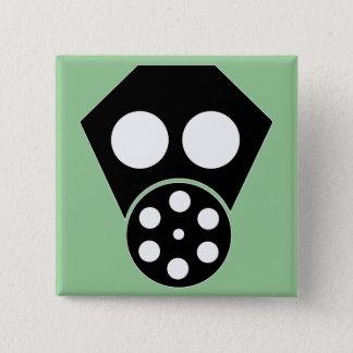 Gas Mask ~ Anarchist Attire 2 Inch Square Button