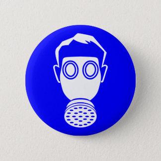 gas mask boy 2 inch round button