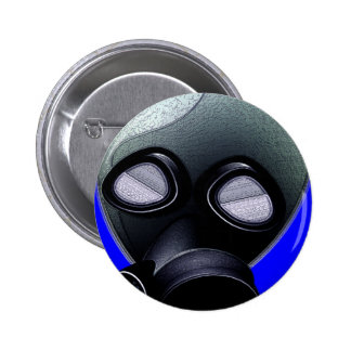 Gas Mask Pinback Buttons