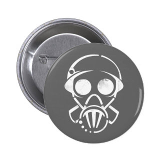 gas mask [button] 2 inch round button