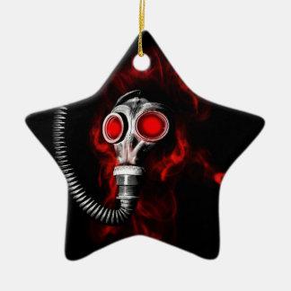 Gas mask ceramic star ornament