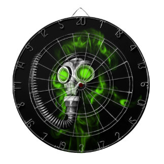 Gas mask dart boards