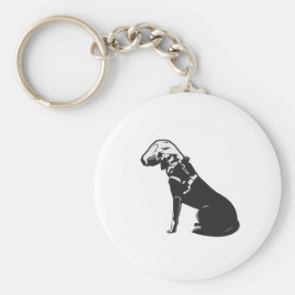 Gas Mask Doggie Key Chain