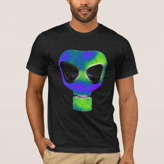 gas mask dub step tshirt neon