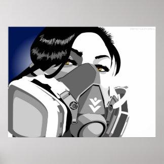 gas mask girl poster
