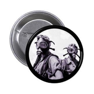 Gas Mask Girls in Purple 2 Inch Round Button