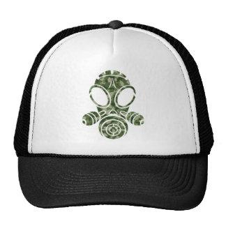 gas mask green green camo trucker hat