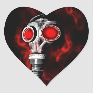 Gas mask heart sticker