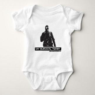 Gas Mask Man Baby Bodysuit
