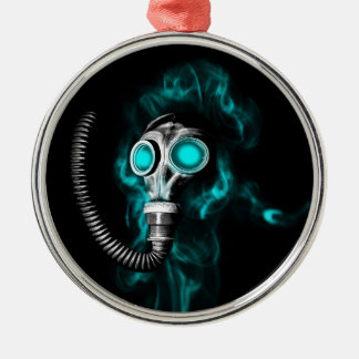 Gas mask metal ornament
