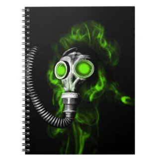 Gas mask notebook
