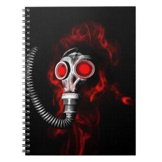 Gas mask notebook
