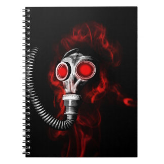 Gas mask notebooks