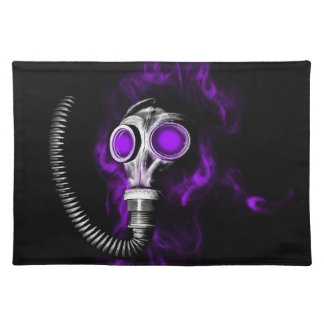 Gas mask placemat