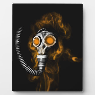 Gas mask plaque