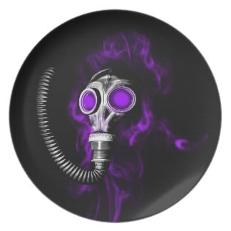 Gas mask plate