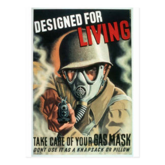 Gas Mask Postcard