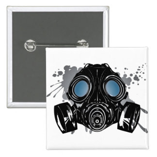 GAS_MASK_PROTECTION 2 INCH SQUARE BUTTON