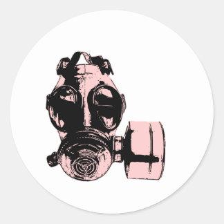 Gas Mask Round Sticker