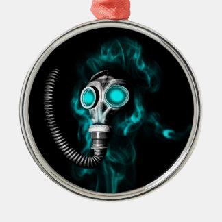 Gas mask Silver-Colored round ornament