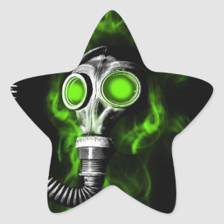 Gas mask star sticker