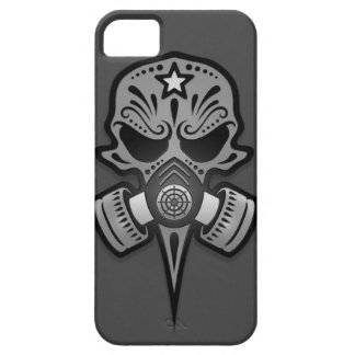Gas Mask Sugar Skull, Grey iPhone 5 Covers