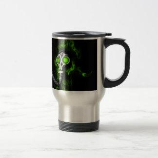 Gas mask travel mug