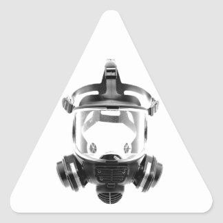 Gas Mask Triangle Sticker