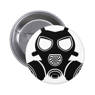 Gas mask vector 2 inch round button