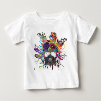 Gas Mask with Roses 5 Baby T-Shirt