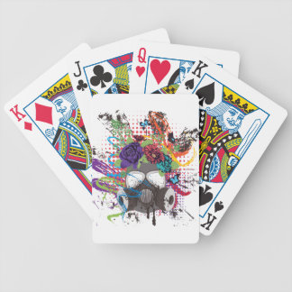 Gas Mask with Roses 5 Bicycle Playing Cards