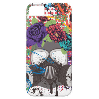 Gas Mask with Roses 5 Case For The iPhone 5
