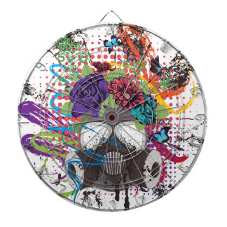 Gas Mask with Roses 5 Dartboard