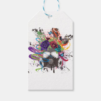 Gas Mask with Roses 5 Gift Tags