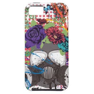 Gas Mask with Roses 5 iPhone 5 Case