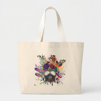 Gas Mask with Roses 5 Large Tote Bag