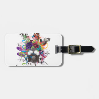 Gas Mask with Roses 5 Luggage Tag