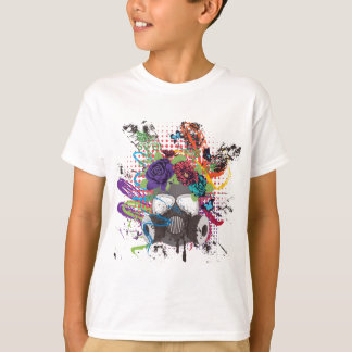 Gas Mask with Roses 5 T-Shirt